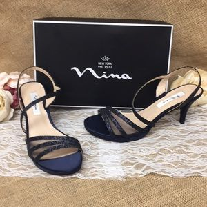 Nina Open Toe Special Occasion Slingback Sandals 8